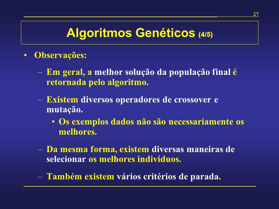 Algoritmos Genéticos (4/5)