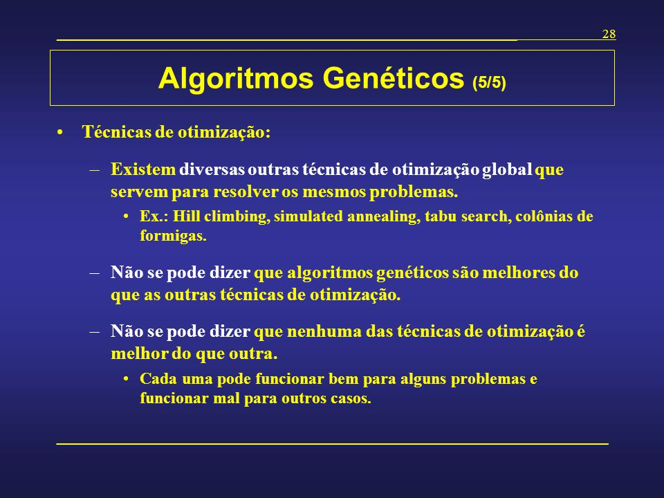 Algoritmos Genéticos (5/5)