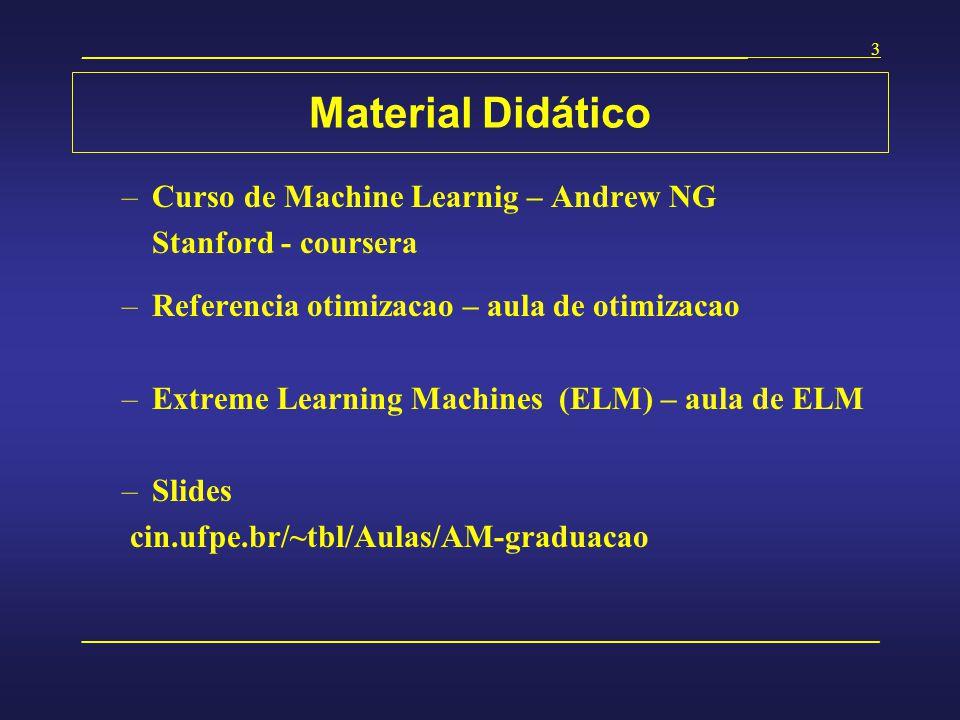 Material Didático Curso de Machine Learnig – Andrew NG