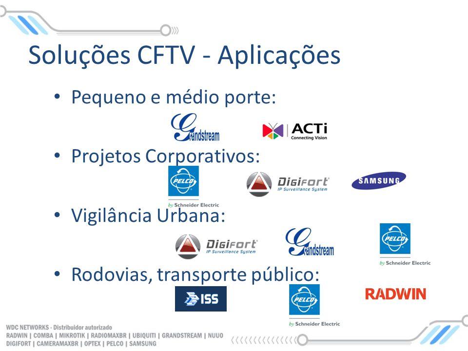 Soluções CFTV - Aplicações
