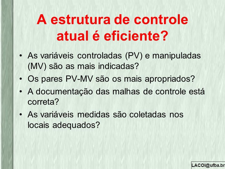 A estrutura de controle atual é eficiente