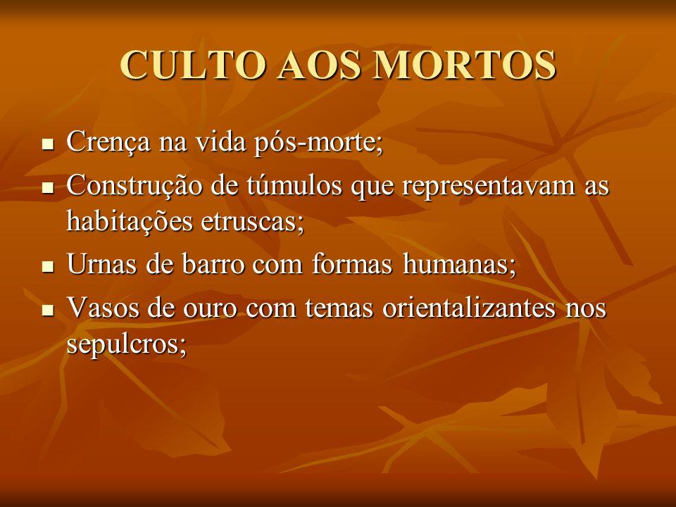 CULTO AOS MORTOS Crença na vida pós-morte;