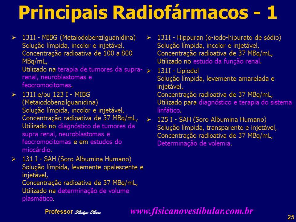 Principais Radiofármacos - 1