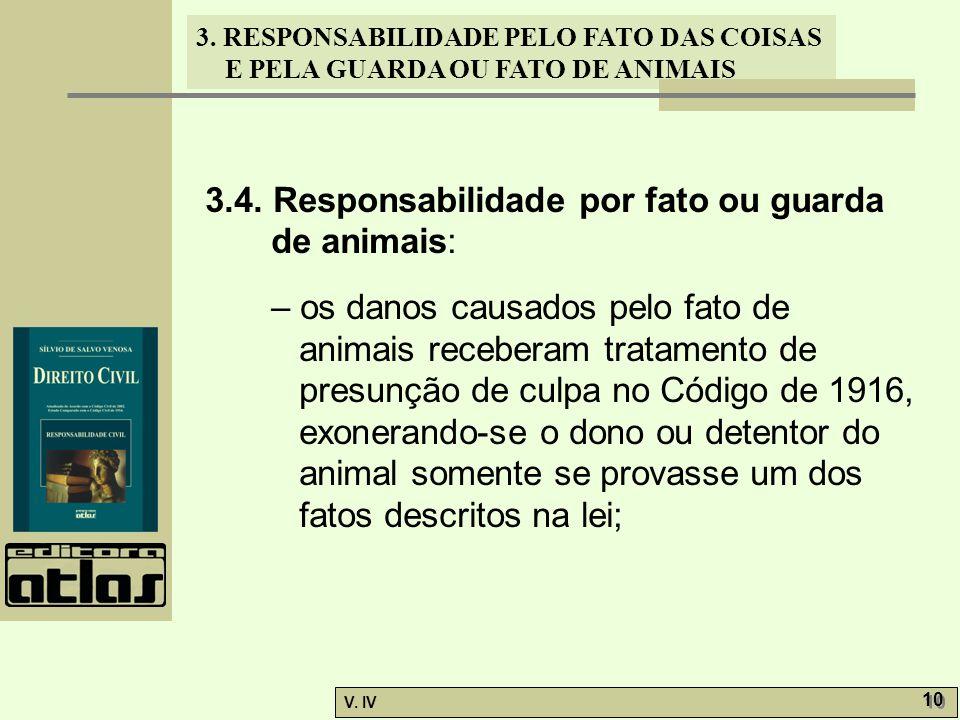 3.4. Responsabilidade por fato ou guarda de animais: