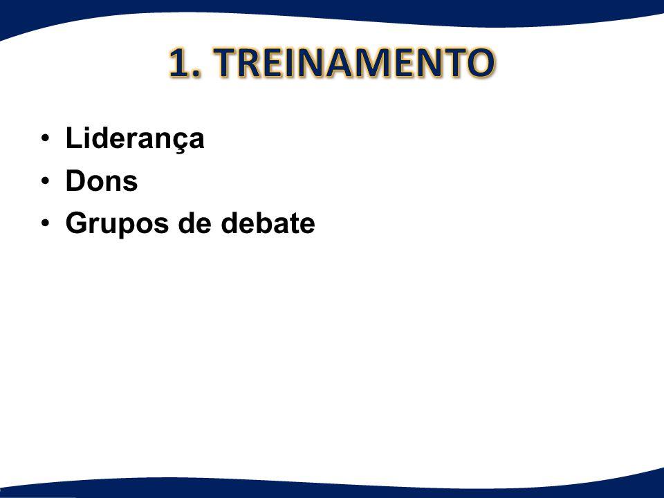 1. TREINAMENTO Liderança Dons Grupos de debate