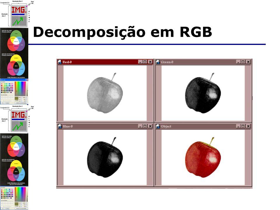 Decomposição em RGB