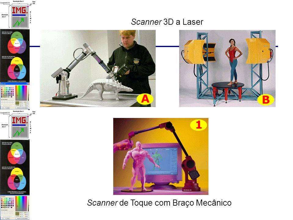 Scanner 3D a Laser Scanner de Toque com Braço Mecânico