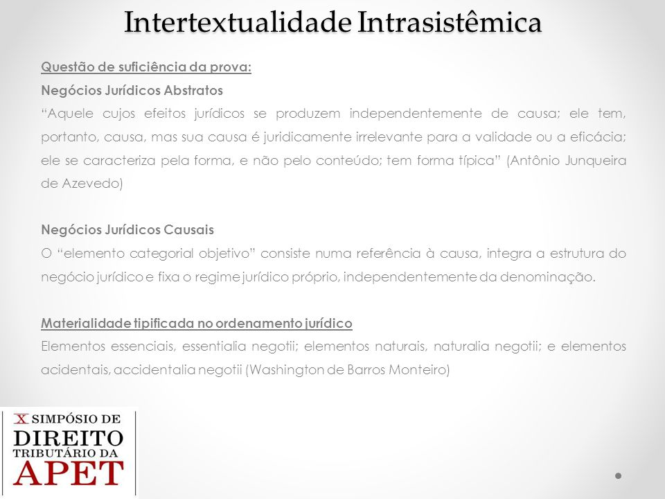 Intertextualidade Intrasistêmica