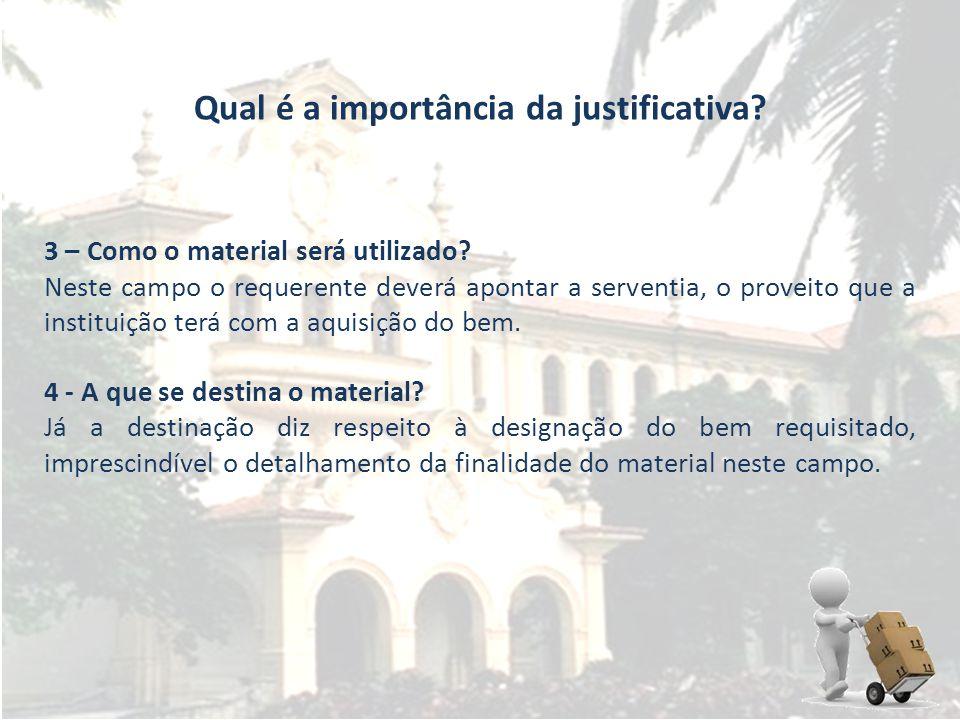 Qual é a importância da justificativa