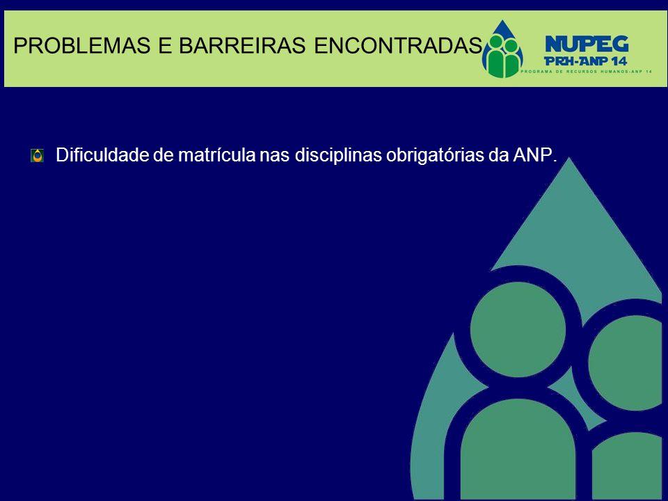PROBLEMAS E BARREIRAS ENCONTRADAS