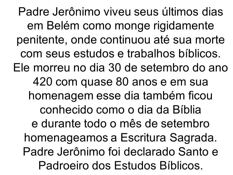 e durante todo o mês de setembro homenageamos a Escritura Sagrada.