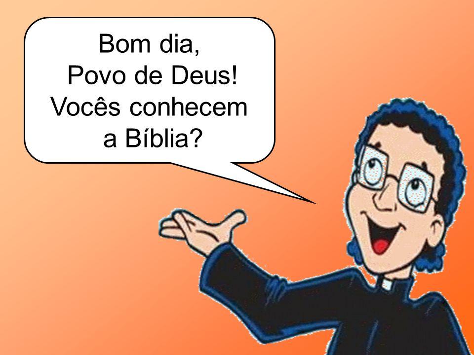 Bom dia, Povo de Deus! Vocês conhecem a Bíblia