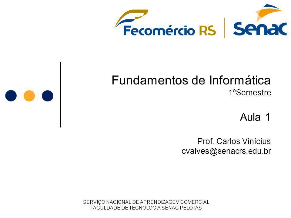 Fundamentos de Informática 1ºSemestre Aula 1 Prof
