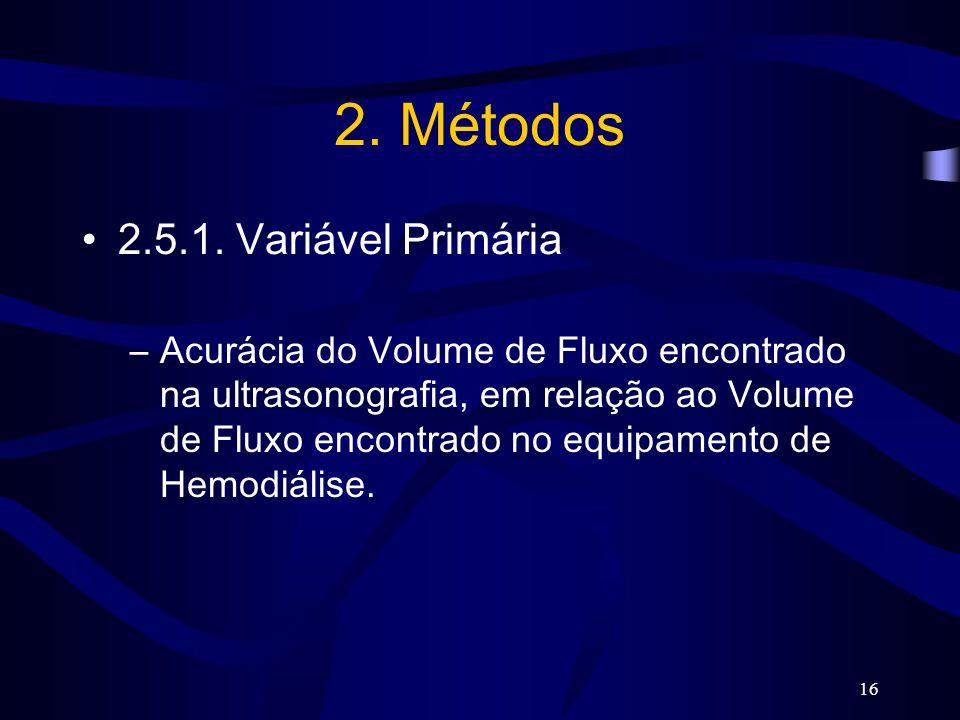 2. Métodos 2.5.1. Variável Primária