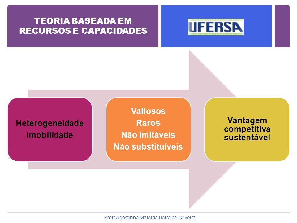 TEORIA BASEADA EM RECURSOS E CAPACIDADES