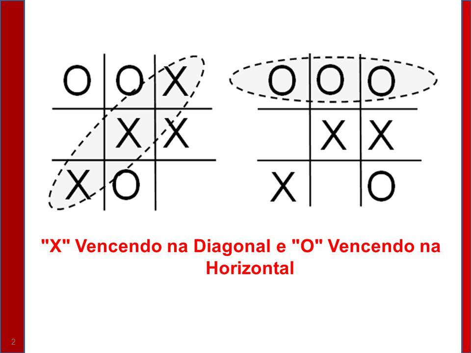 X Vencendo na Diagonal e O Vencendo na Horizontal