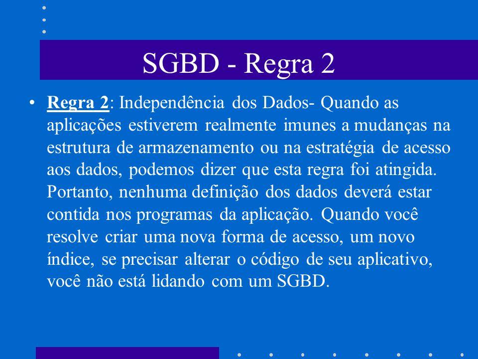 SGBD - Regra 2
