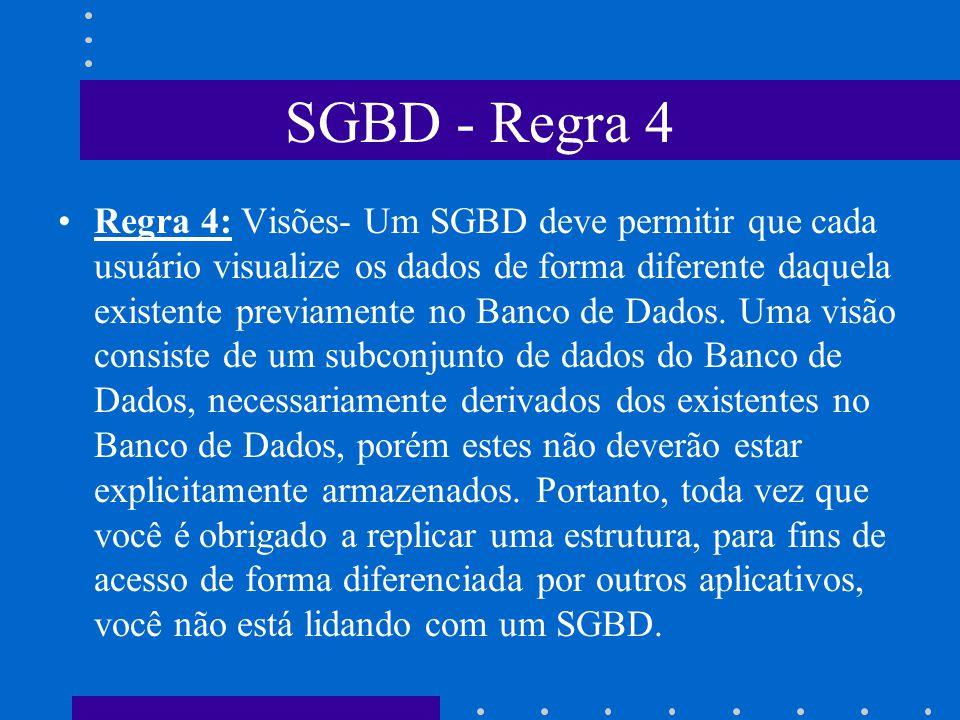 SGBD - Regra 4
