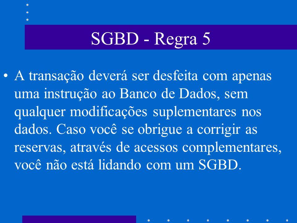 SGBD - Regra 5