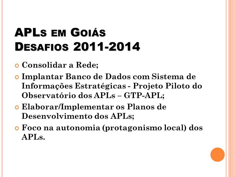 APLs em Goiás Desafios 2011-2014