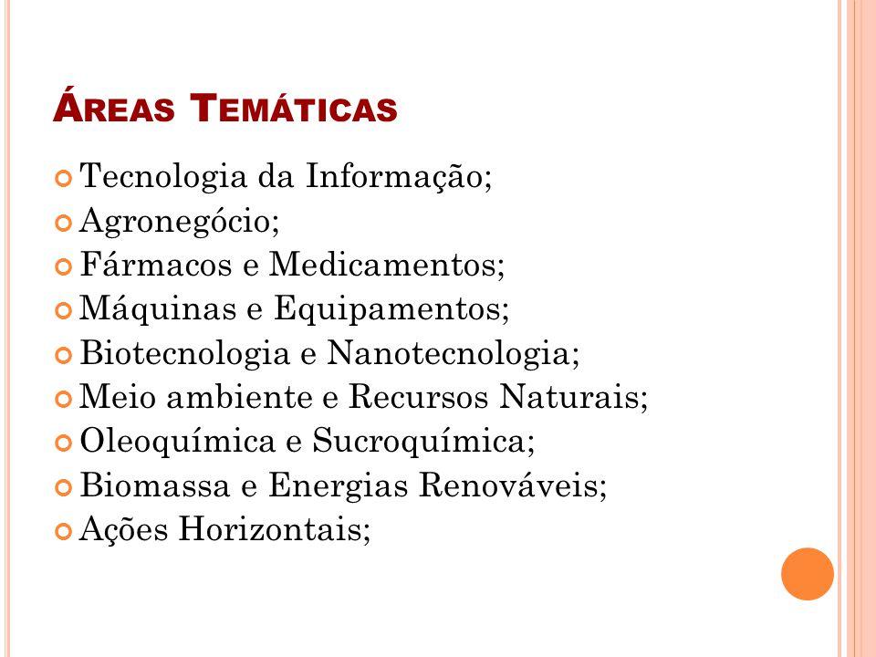 Áreas Temáticas Tecnologia da Informação; Agronegócio;