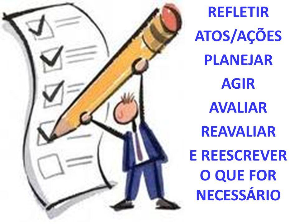 E REESCREVER O QUE FOR NECESSÁRIO