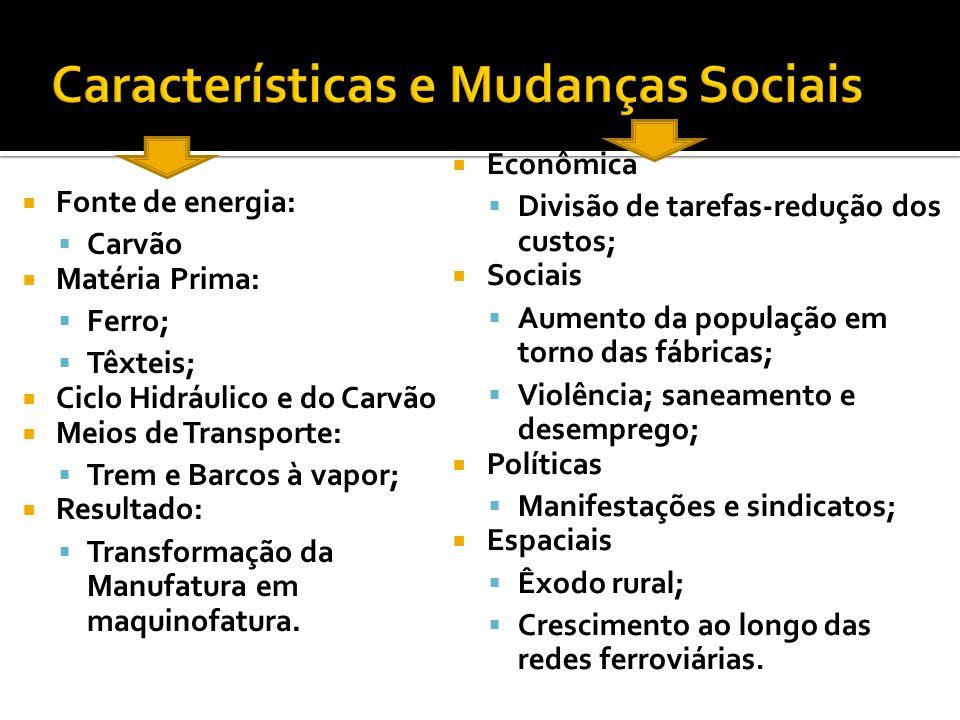 Características e Mudanças Sociais