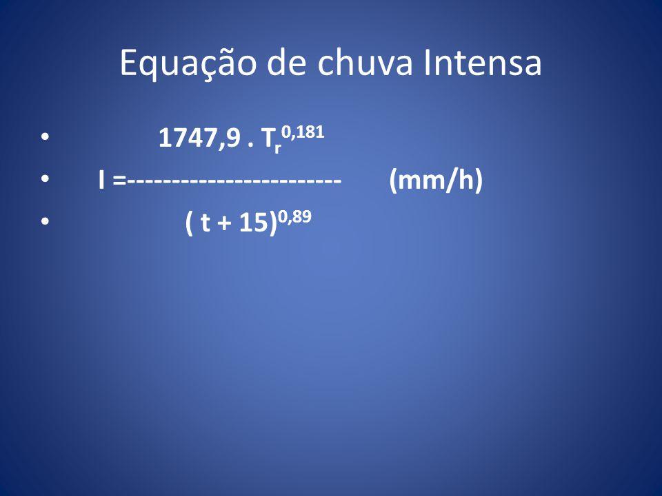 Equação de chuva Intensa