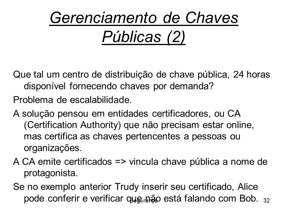 Gerenciamento de Chaves Públicas (2)
