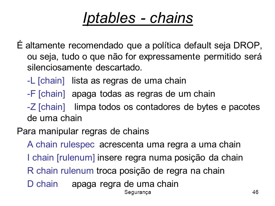 Iptables - chains
