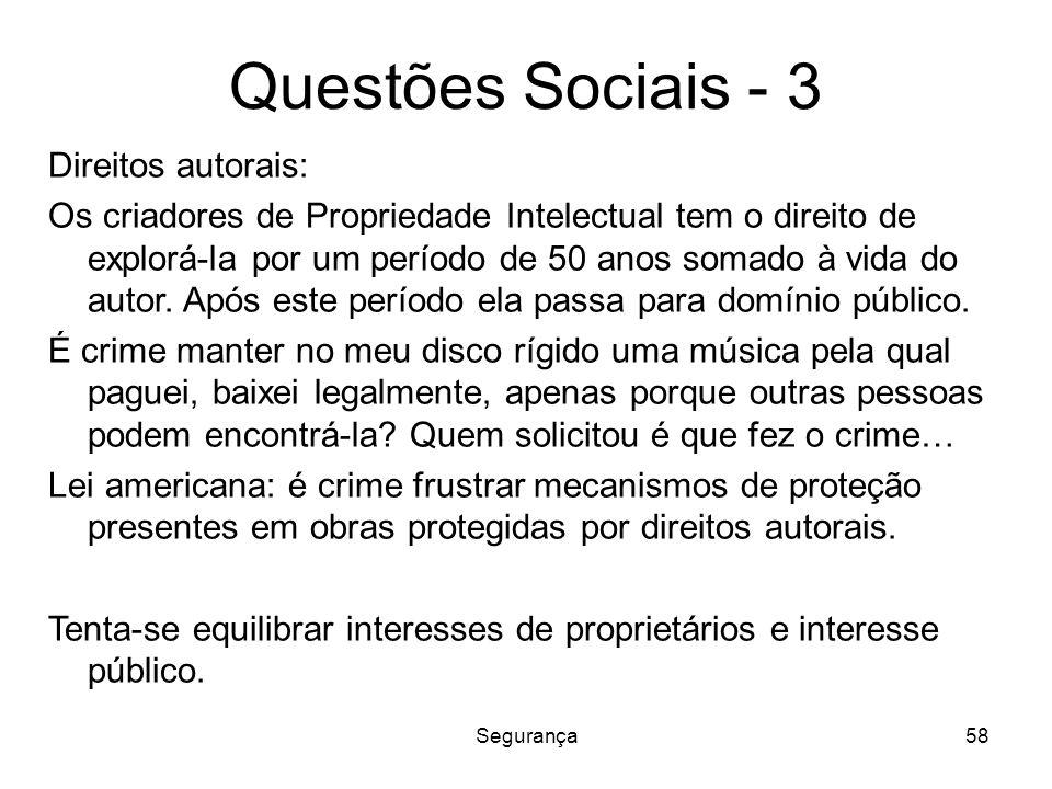Questões Sociais - 3 Direitos autorais:
