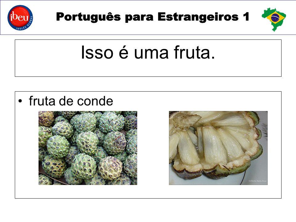 Isso é uma fruta. fruta de conde