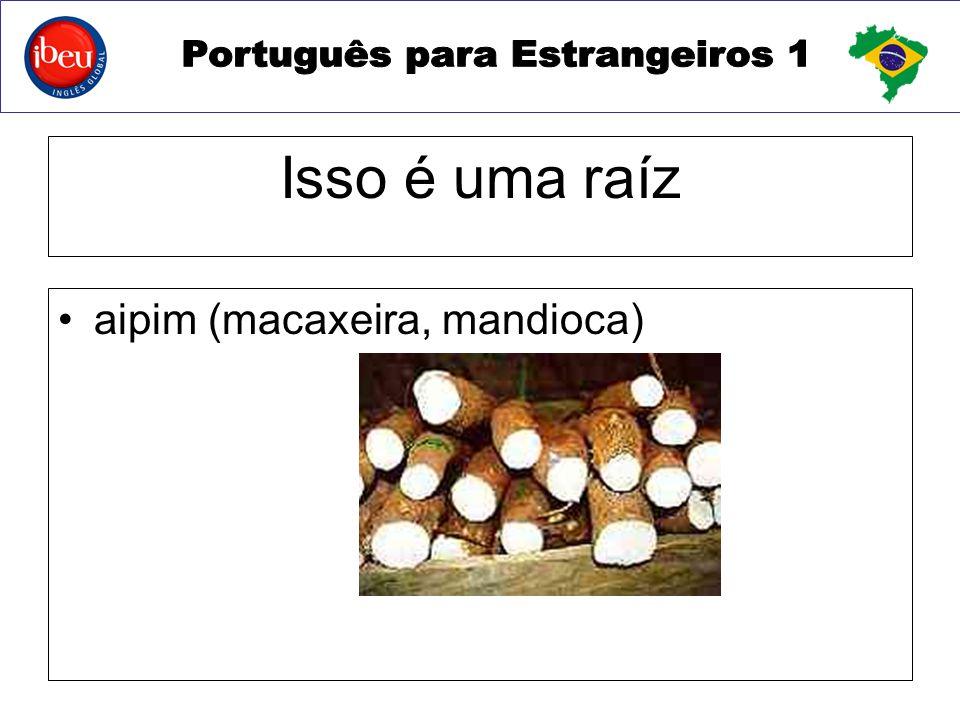Isso é uma raíz aipim (macaxeira, mandioca)