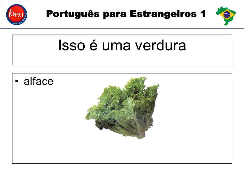 Isso é uma verdura alface