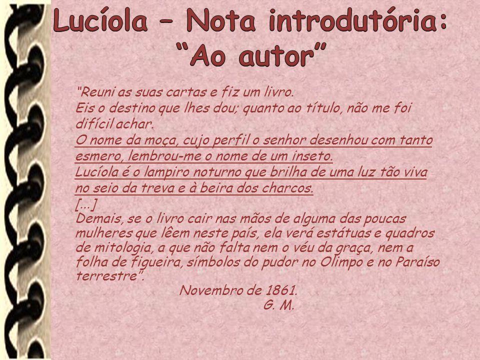 Lucíola – Nota introdutória: Ao autor