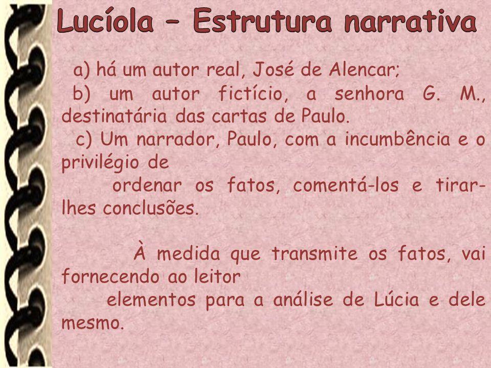 Lucíola – Estrutura narrativa
