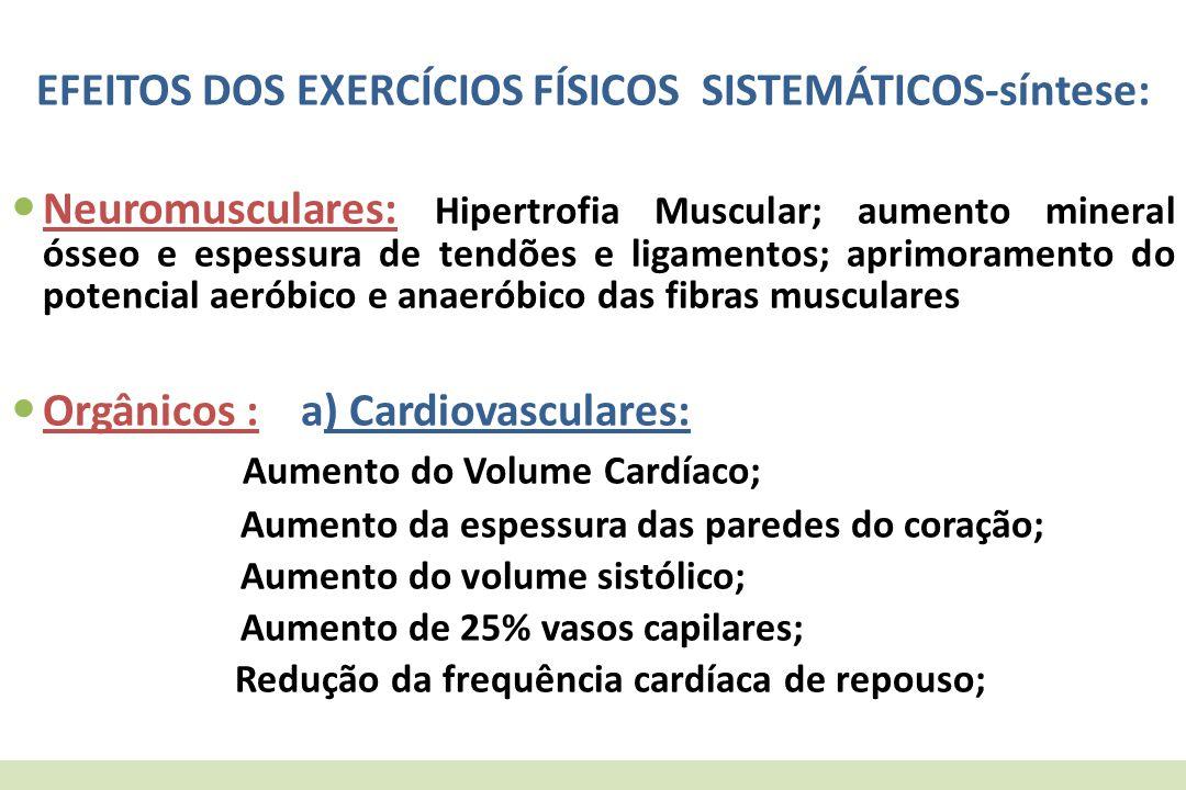 EFEITOS DOS EXERCÍCIOS FÍSICOS SISTEMÁTICOS-síntese: