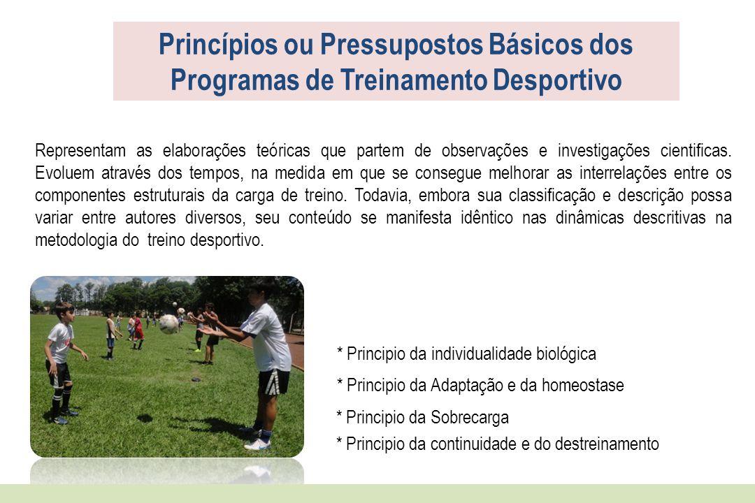 Princípios ou Pressupostos Básicos dos Programas de Treinamento Desportivo