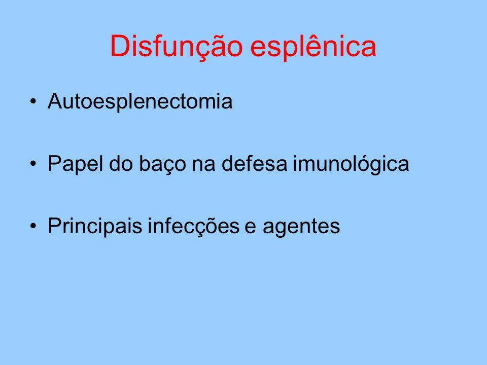 Disfunção esplênica Autoesplenectomia