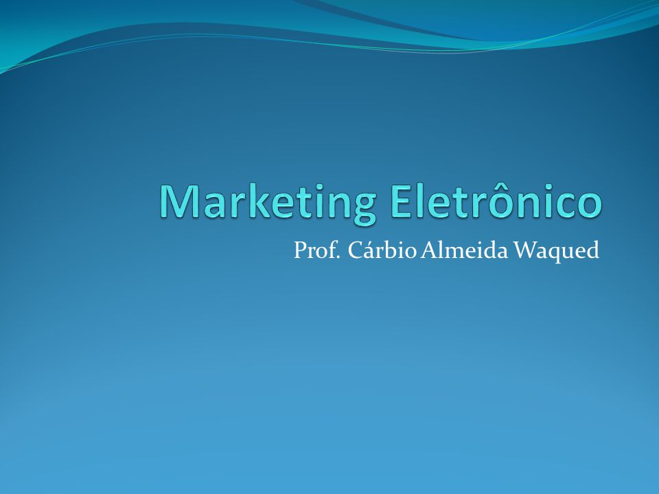 Prof. Cárbio Almeida Waqued