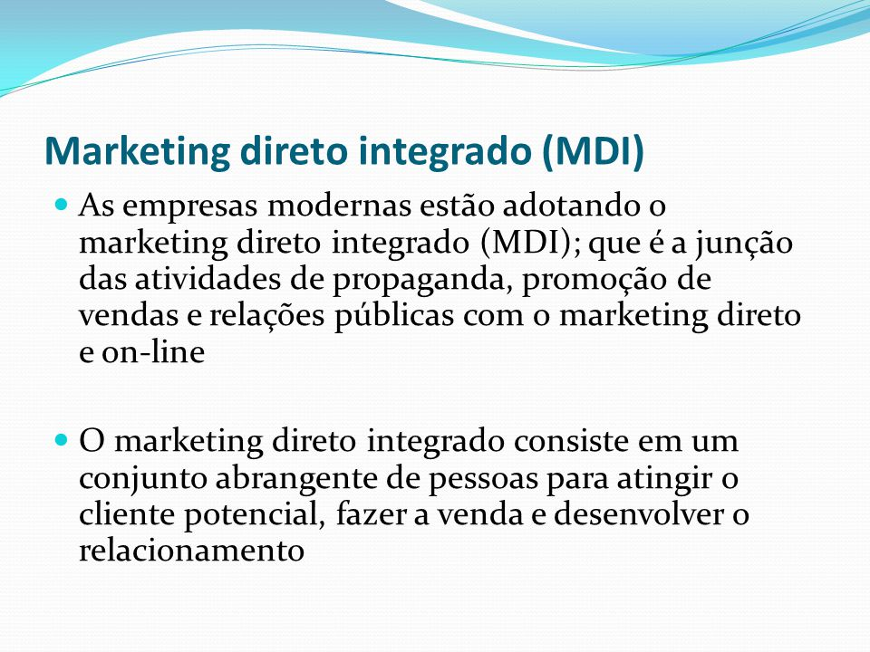 Marketing direto integrado (MDI)