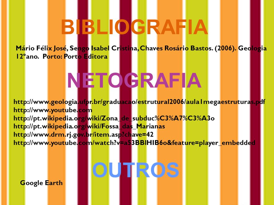 BIBLIOGRAFIA NETOGRAFIA OUTROS