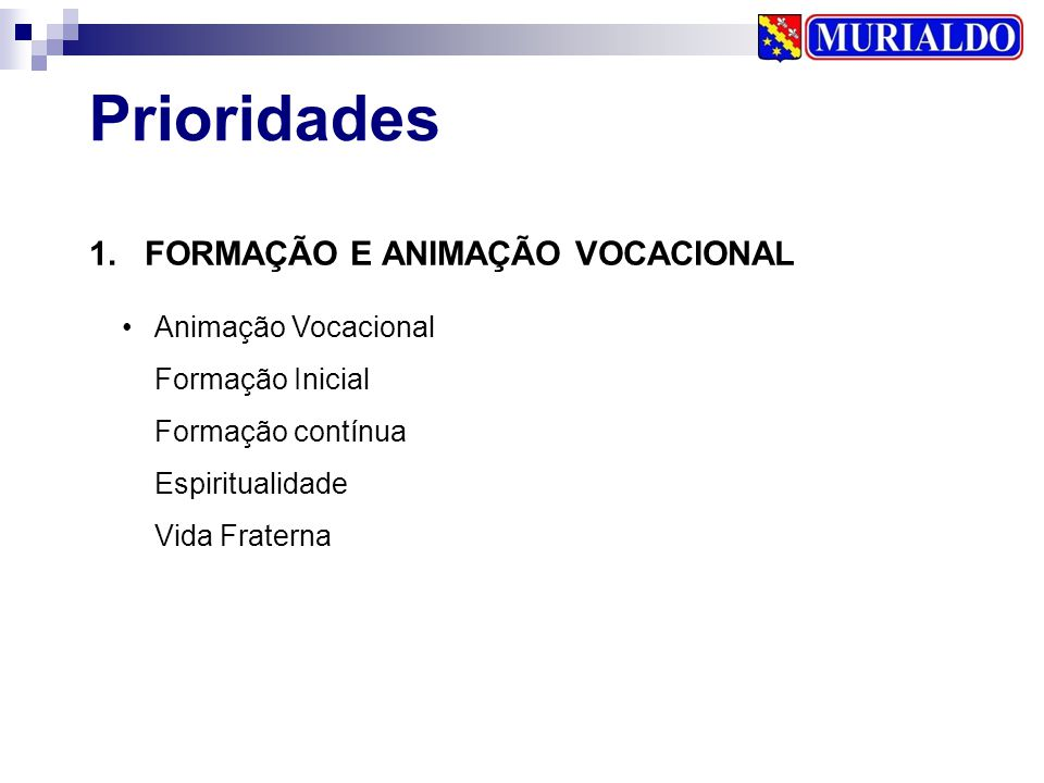 1. FORMAÇÃO E ANIMAÇÃO VOCACIONAL