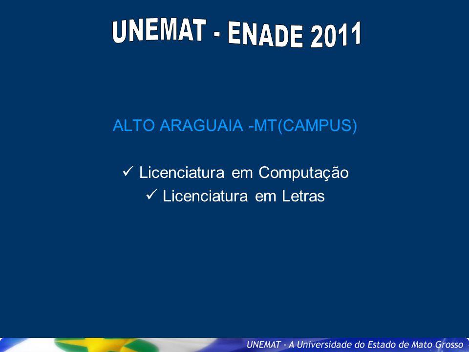 UNEMAT - ENADE 2011 ALTO ARAGUAIA -MT(CAMPUS)
