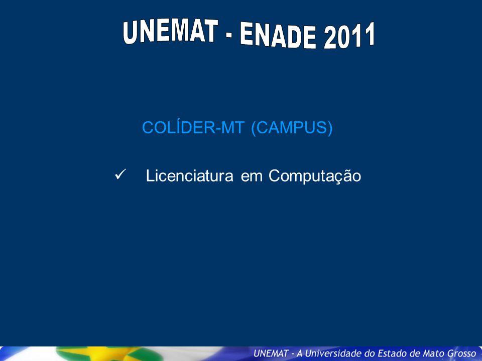 COLÍDER-MT (CAMPUS) Licenciatura em Computação