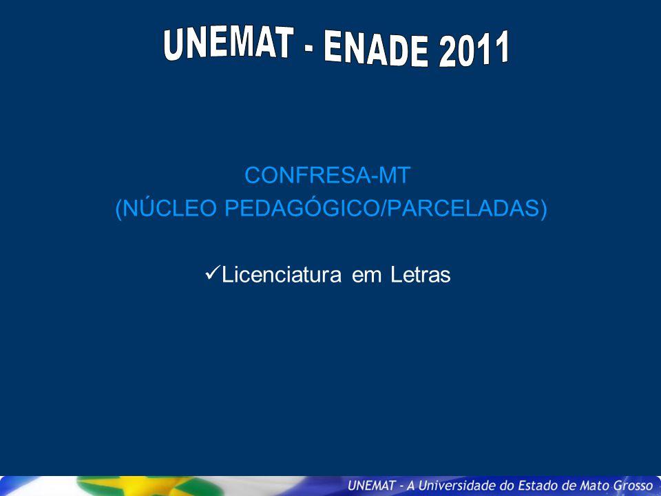 CONFRESA-MT (NÚCLEO PEDAGÓGICO/PARCELADAS) Licenciatura em Letras