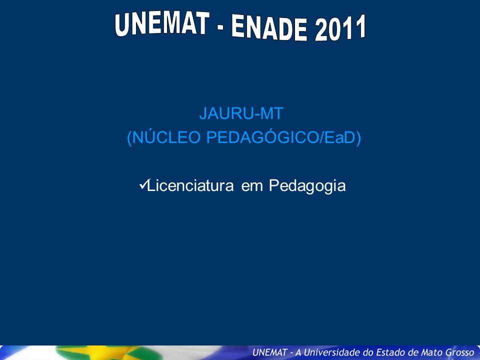 JAURU-MT (NÚCLEO PEDAGÓGICO/EaD) Licenciatura em Pedagogia