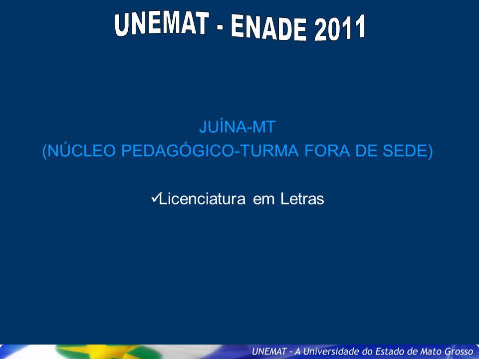 JUÍNA-MT (NÚCLEO PEDAGÓGICO-TURMA FORA DE SEDE) Licenciatura em Letras