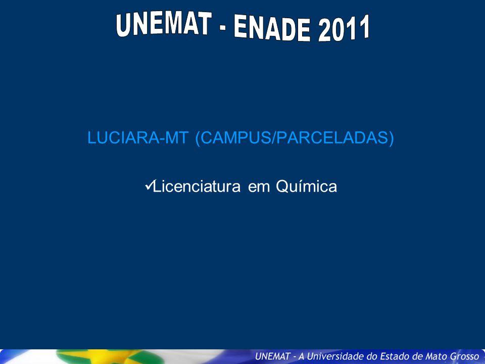 LUCIARA-MT (CAMPUS/PARCELADAS) Licenciatura em Química