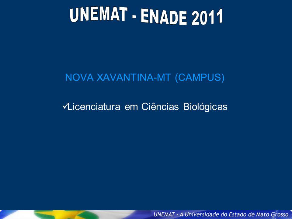 NOVA XAVANTINA-MT (CAMPUS) Licenciatura em Ciências Biológicas
